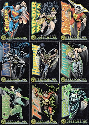DC LEGENDS '95 POWER CHROME 1995 SKYBOX COMPLETE BASE CARD SET OF 150 (Comic Cards Book Trading)