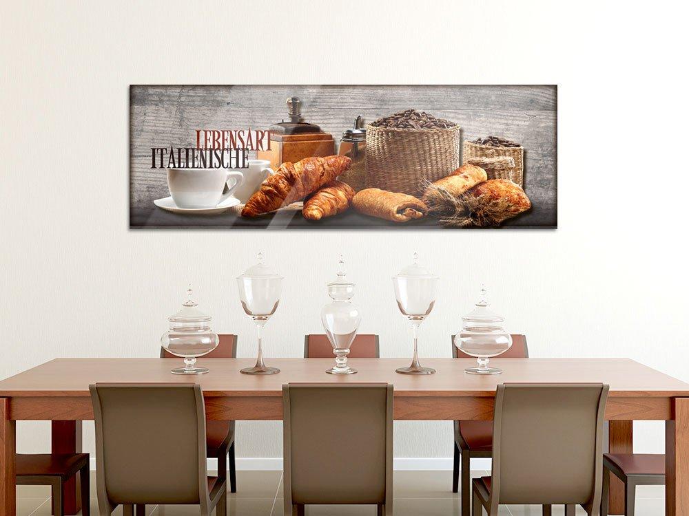 K/üchebilder als Dekoration GRAZDesign Acrylglasbilder K/üche Wandbild Breakfast Fr/ühst/ück Kaffee Croissant Glasbild aus Acryl // 100x50cm // 100460/_001/_01/_04 f/ür Esszimmer Bar