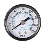 Portable 0-160psi 0-10bar Pressure Gauge Air