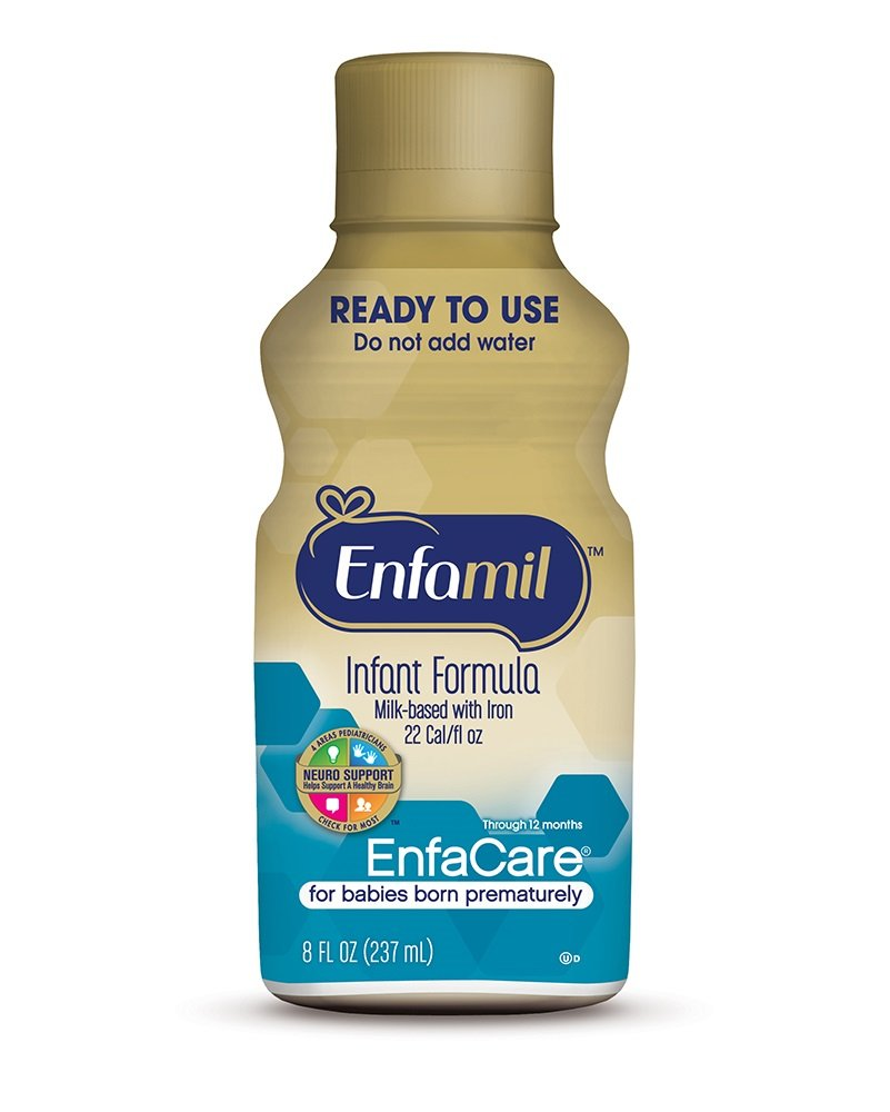 Enfamil EnfaCare Ready to Feed Premature Newborn Baby Formula Milk, 8 Fluid Ounce (24 count), Omega 3 DHA by Enfamil (Image #4)