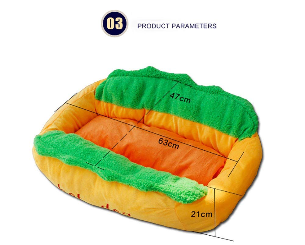 Pet Supplies Pet nest Dog Bed Cat Litter Kennel Cushion Simulated hot Dog Moisture-Proof Non-Slip Cotton lint Washable Suitable for Cats Dogs