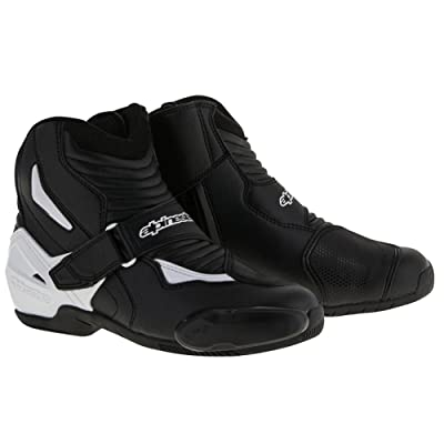 Alpinestars SMX-1R Mens Motorcycle Boots - Black/White - 45