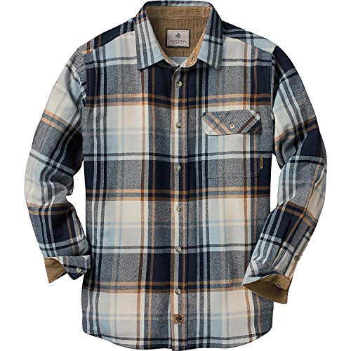 Legendary Whitetails Men's Buck Camp Flannel Shirt (Pacific Shore Plaid, XX-Large Tall)