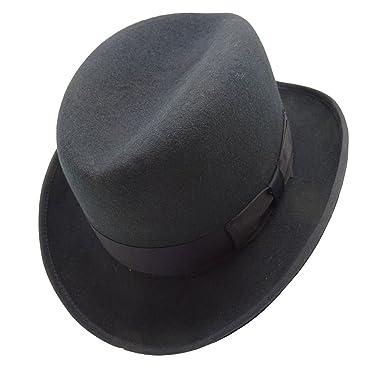 fae095da0f4 HATsanity Unisex Vintage Wool Felt Homburg Hat Navy  Amazon.co.uk ...
