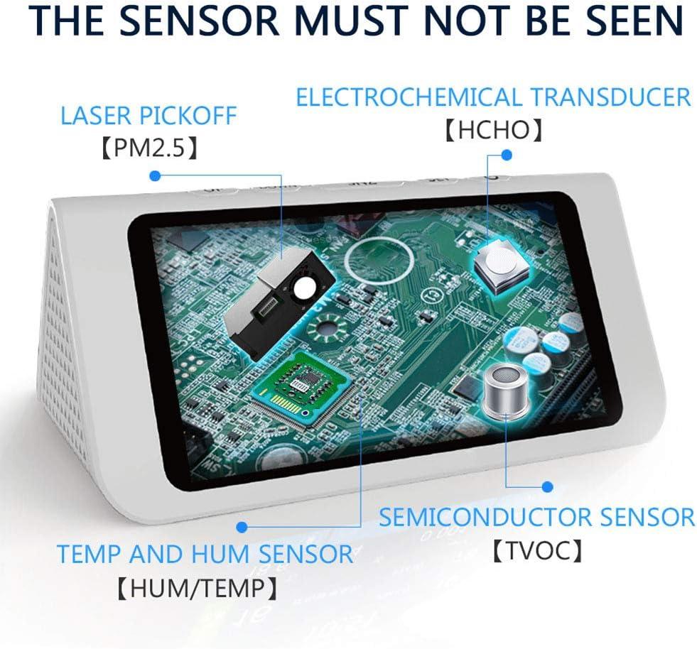 TVOC PM2.5 // PM1.0 // PM10 Prueba de contaminaci/ón de la calidad del aire Saiko Monitor de Calidad de Aire Monitor de calidad del aire interior Detector Prueba precisa de formaldeh/ído HCHO