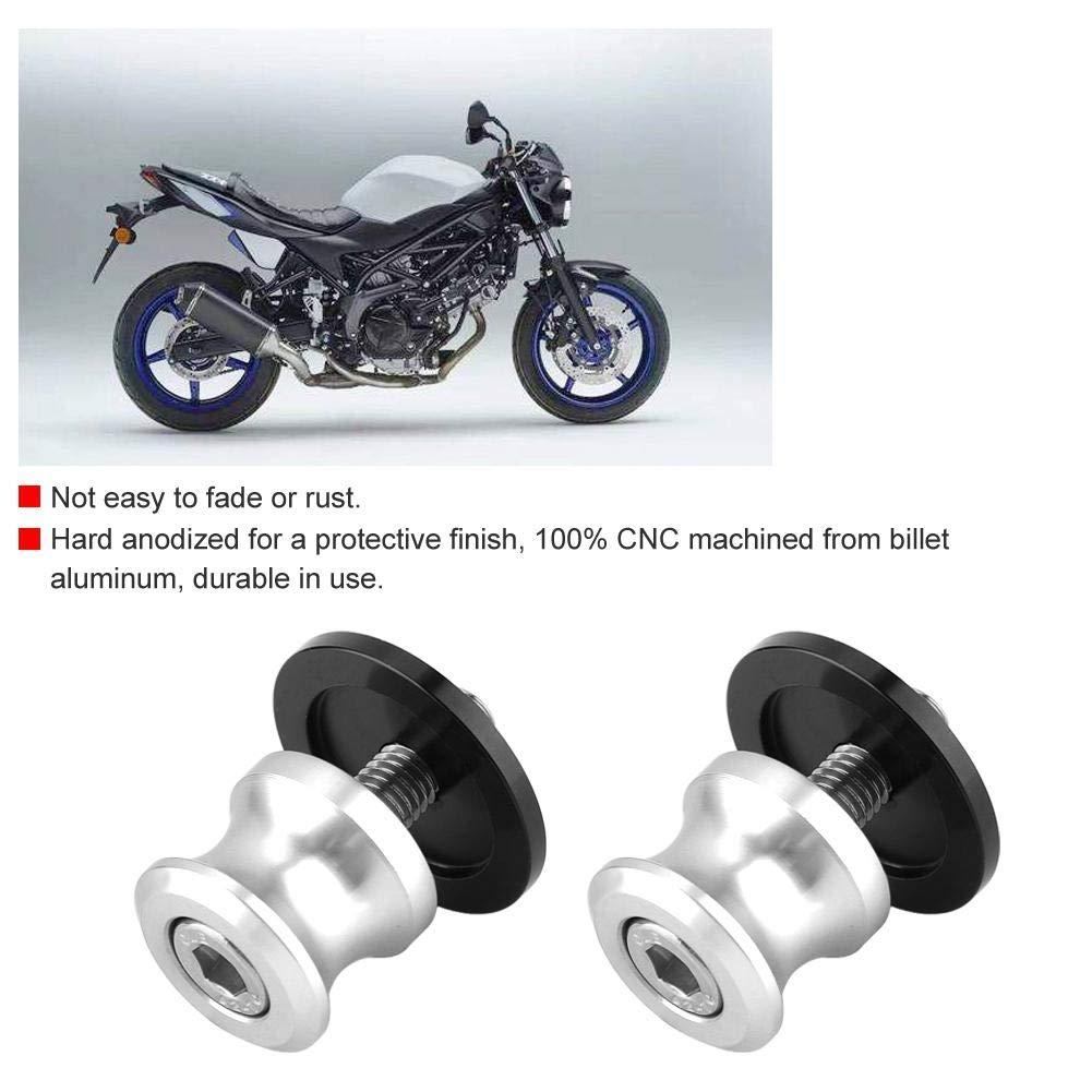 2pcs 6mm Motorcycle CNC Rear Stand Swing Arm Spool Sliders Stand Swingarm Bobbins Aramox Sliders Stand Titanium