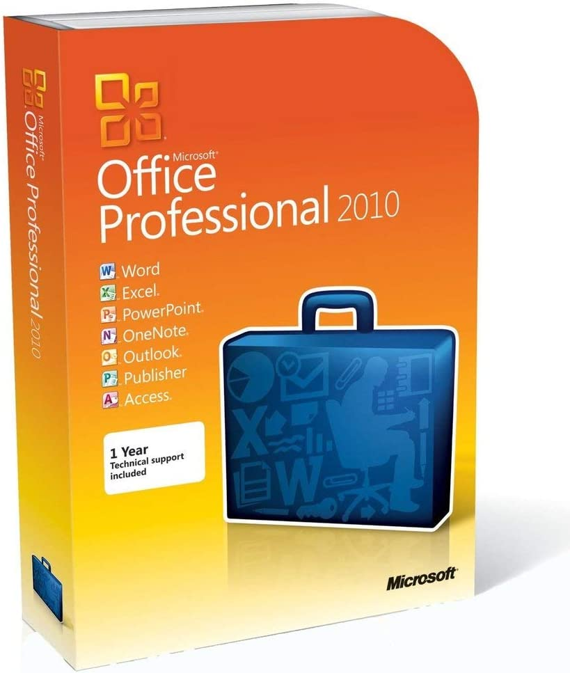 Microsoft Office Professional 2010 (2PC/1User) [Disc Version]
