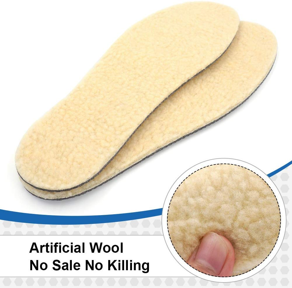 Skyfoot\'s Wool Insole, Warm Insoles for Men and Women, 3 Layers Wool Shoe Inserts