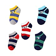 GAMISOTE Baby Boys Socks Newborn Infant Girls Cute Unisex Cotton Crew Sock 5 Pack
