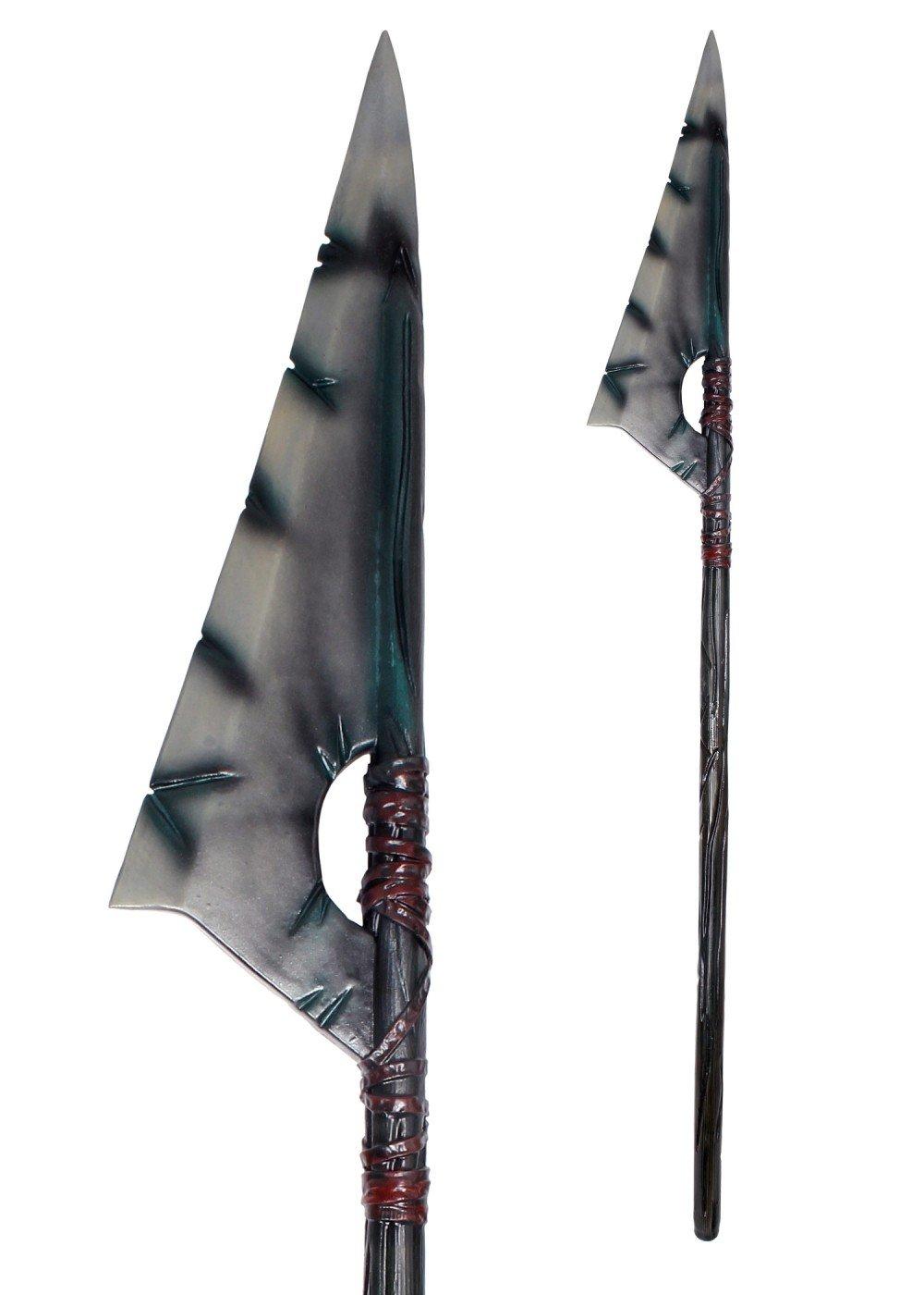 LARP Ork-Lanze ca. 190 cm aus Schaumstoff Polsterwaffe Fantasy Krieger Hexer Speer Mittelalter Schaukampf Wikinger