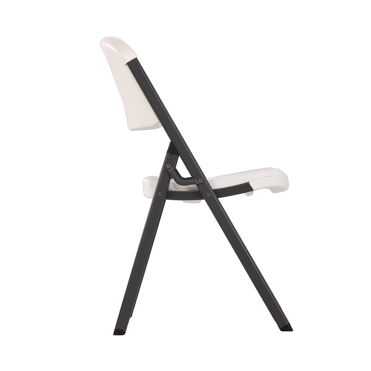 Lifetime Folding Chairs White Granite Color Steel Frame