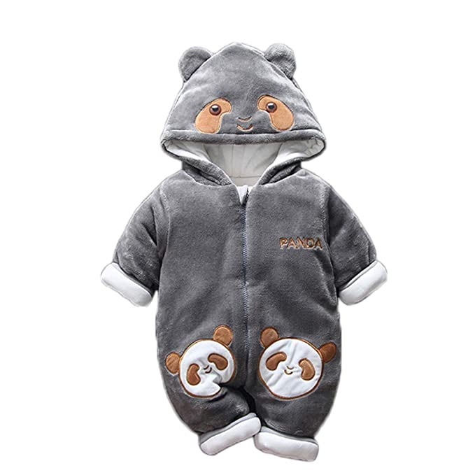 ed281e751 Amazon.com  DELLOS Baby Winter Romper Cotton Padded Thick Newborn ...