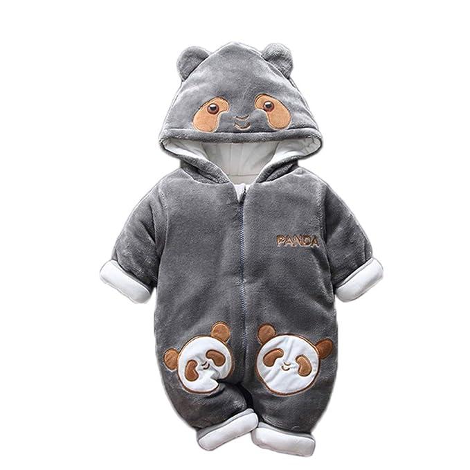 ed281e751 Amazon.com  DELLOS Baby Winter Romper Cotton Padded Thick Newborn ...