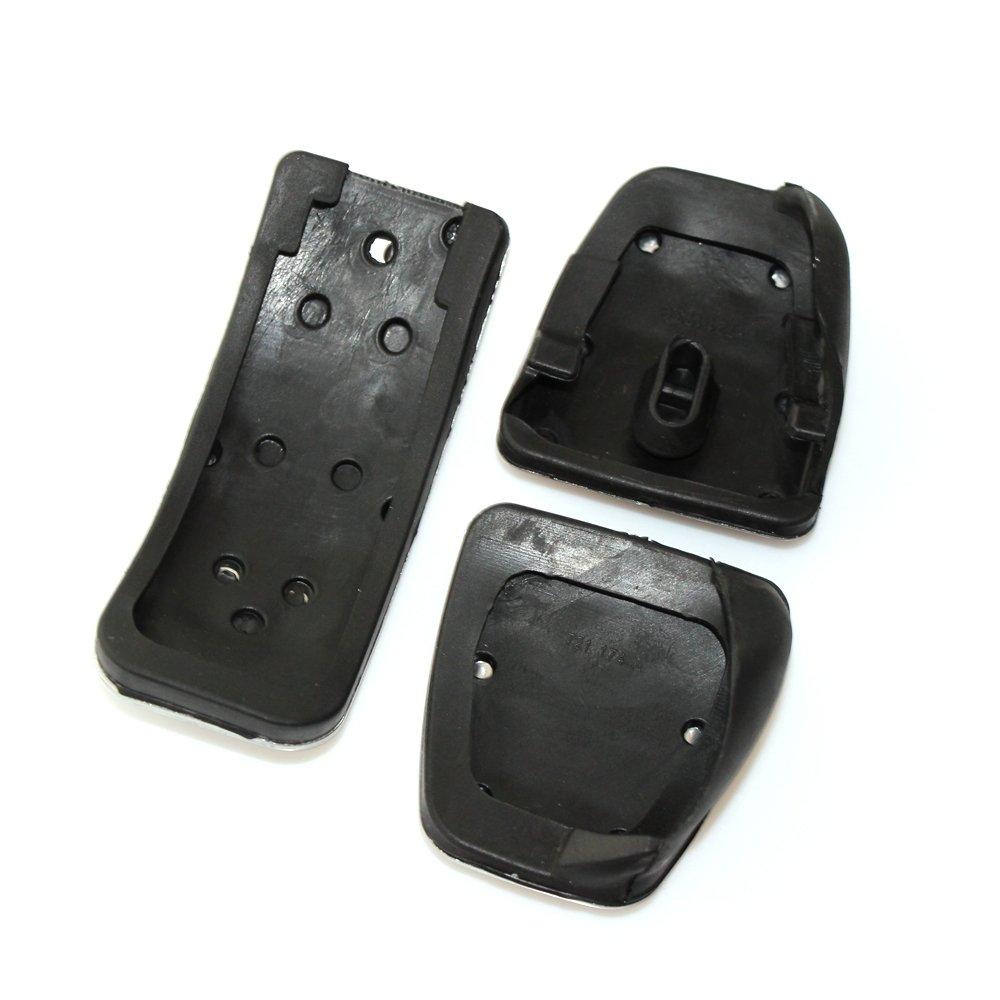 FFZ Parts Pedale Pedalkappen aus Edelstahl Passend F/ür 5er Serie F10 F11 M5 Schaltgetriebe
