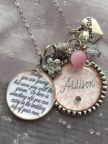 bc0fb7fdef339 Amazon.com: Personalized FLOWER GIRL necklace, children's jewelry ...