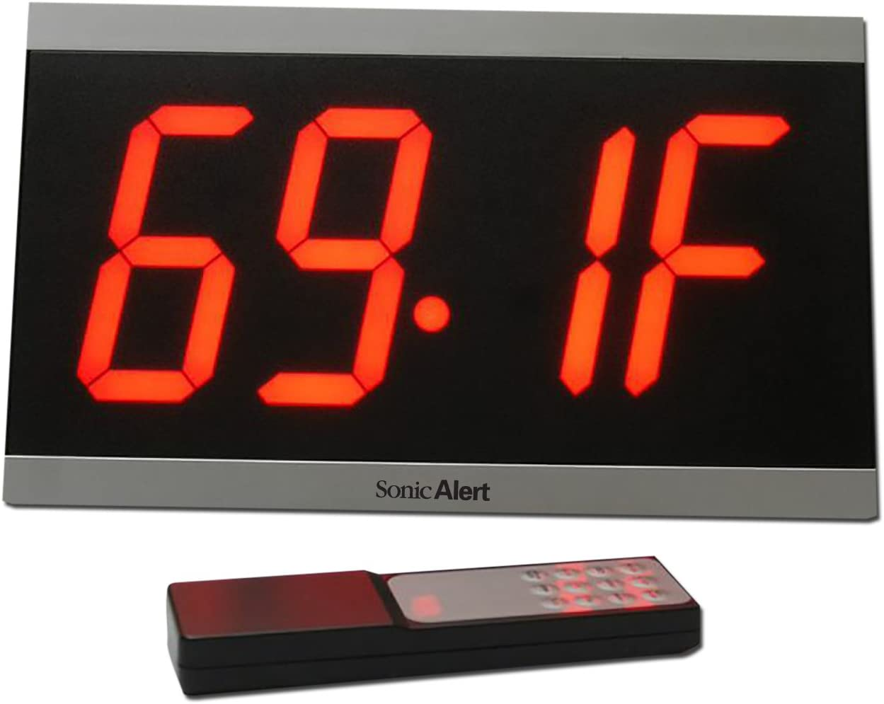 Sonic Alert Big Display Max, Black Red