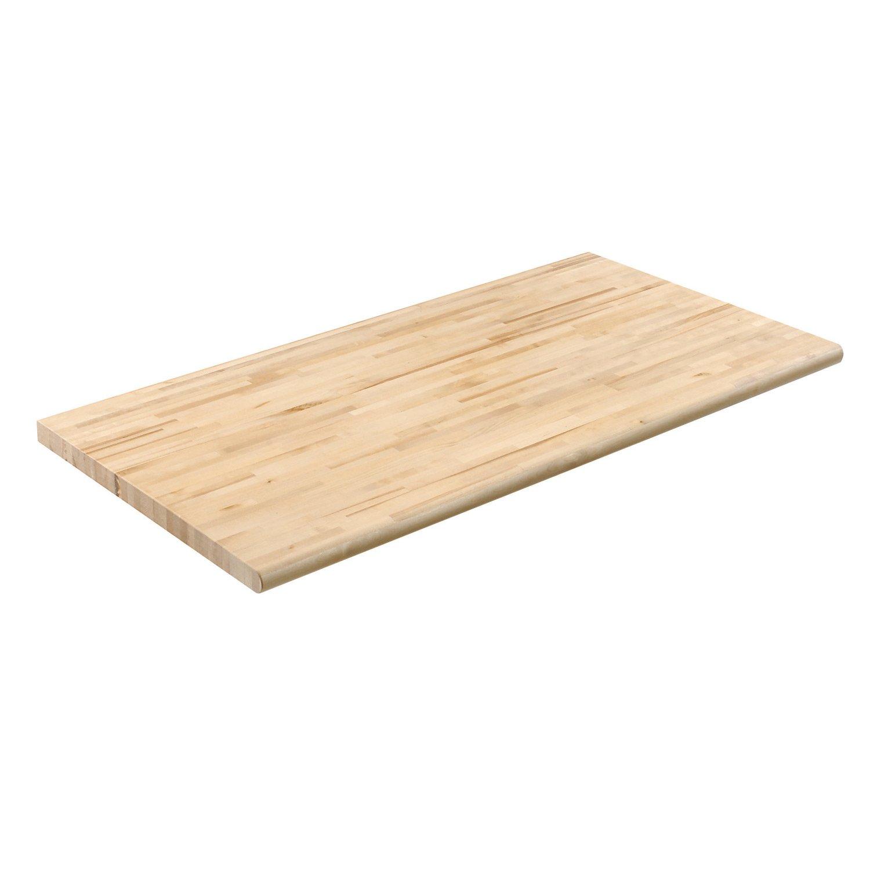 Nexel Safety Edge Maple Bench Top, 72'' W x 36'' D x 1⅝'' Thick