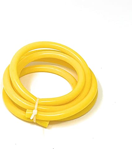 """For 1//4/"""" 6mm 1 Meter Fuel Air Silicone Vacuum Hose Line Tube Pipe Yellow New"""