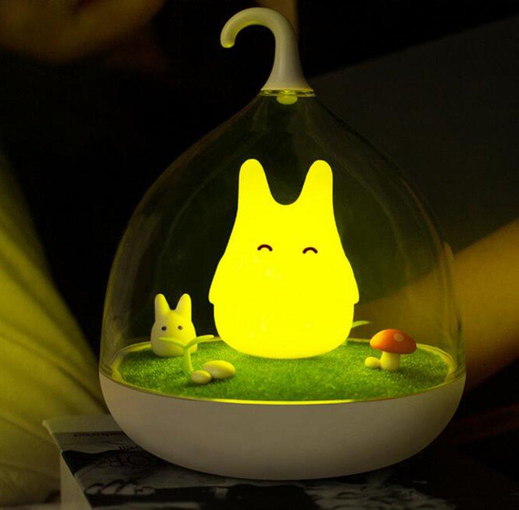 Portable Night Light, [DEMEDO] Sans fil Forme de la cage Nightlight for Bedroom and Outdoor, Lumière réglable Lumière de nursery pour bébés - Oiseau