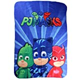PJ Masks Héroes en Pijamas PJ61001 Manta Polar, Multicolor, Gatuno, Buhíta, Gecko
