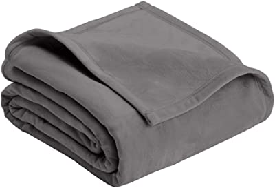 MD Group Plush Blanket Home Micro Mink Soft Luxurious Tornado Grey Full/Queen Polyester Heavy Weight Sofa Bedding