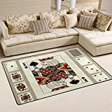THUNANA Poker Soft Indoor Outdoor Area Rug Rugs Home Decor for Living Room Bedroom Kitchen