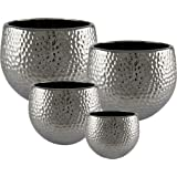 blumentopf bertopf silber 20cm versilbertes metall orchideentopf k che. Black Bedroom Furniture Sets. Home Design Ideas