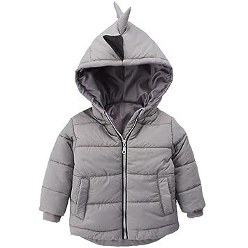e93659029 Amazon.com   Winter Down Jacket for Kids Baby Boys Girls 3D Dinosaur ...