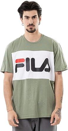 Fila 681244-A439 - Camiseta de Manga Corta para Hombre, Color Verde: Amazon.es: Ropa y accesorios