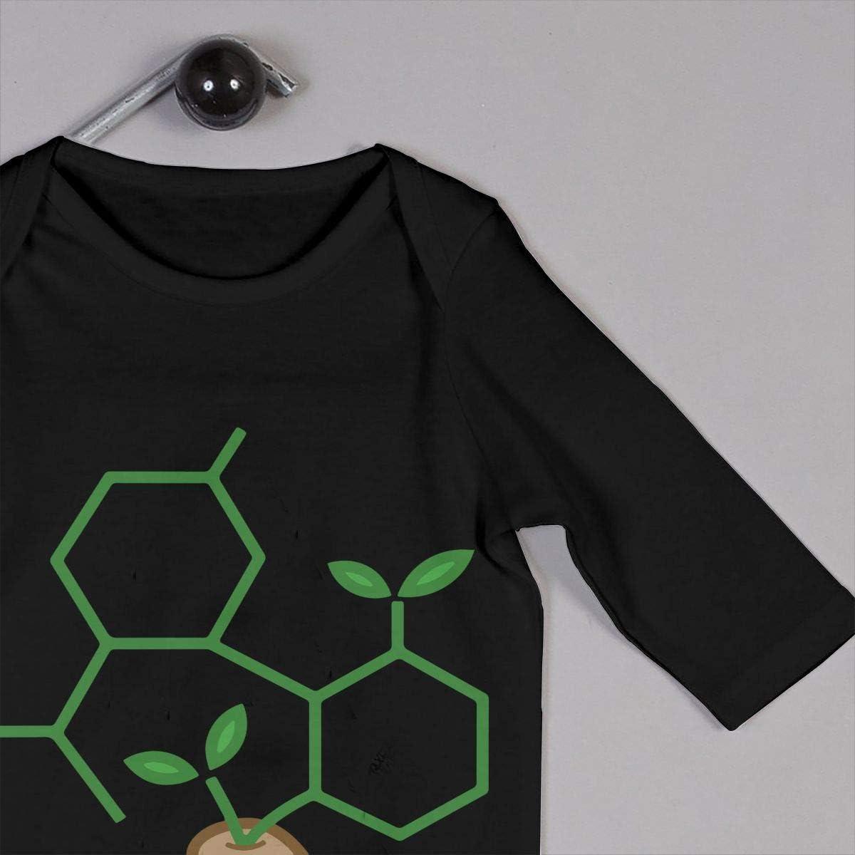 Baby Girl Short Sleeve Bodysuits CBD Molecule Cannabis Sprout Infant Romper Jumpsuit