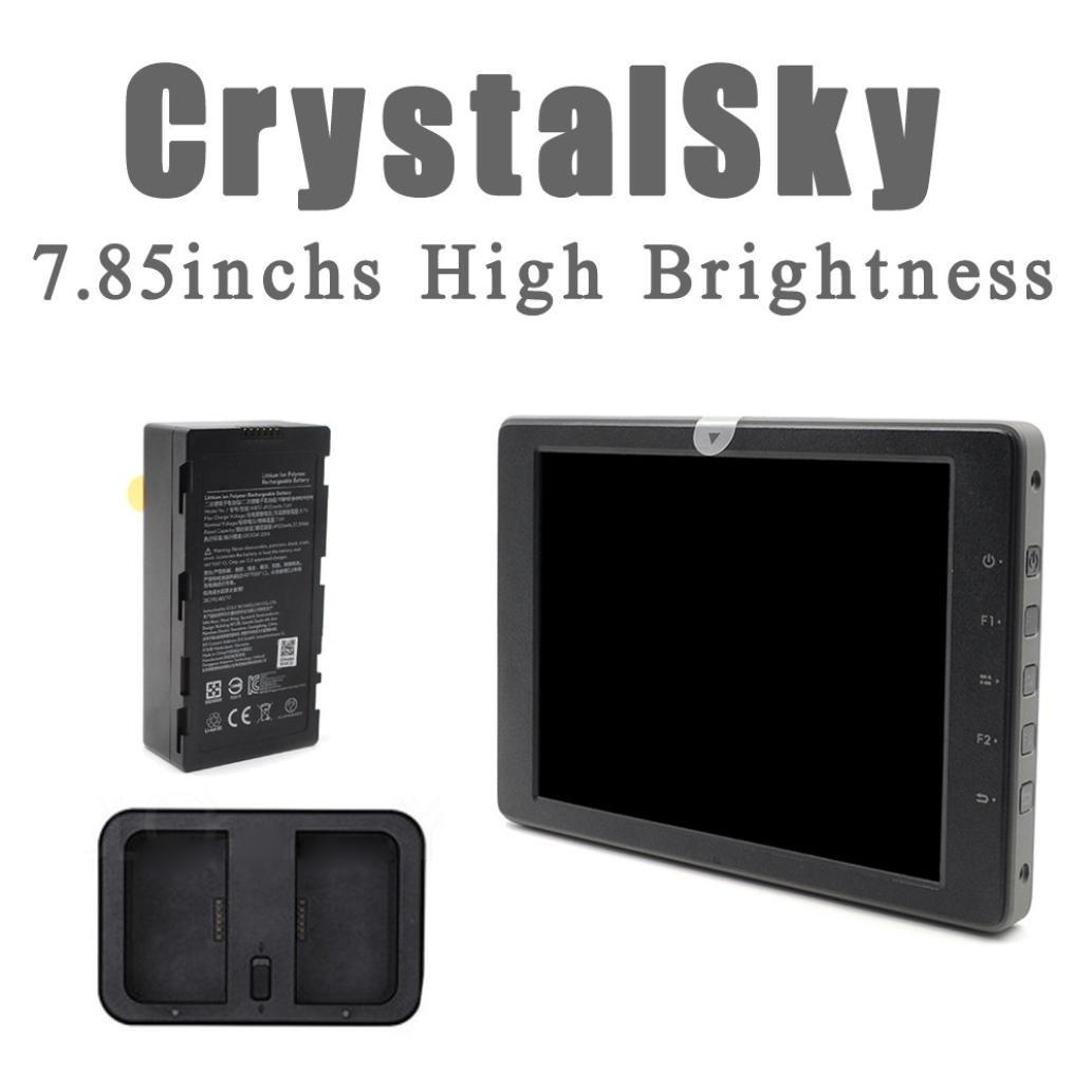 Tiean Oringinal DJI CrystalSky 7.85''High Brightness Display Monitor DJI Mavic Pro, Phantom Series (black)
