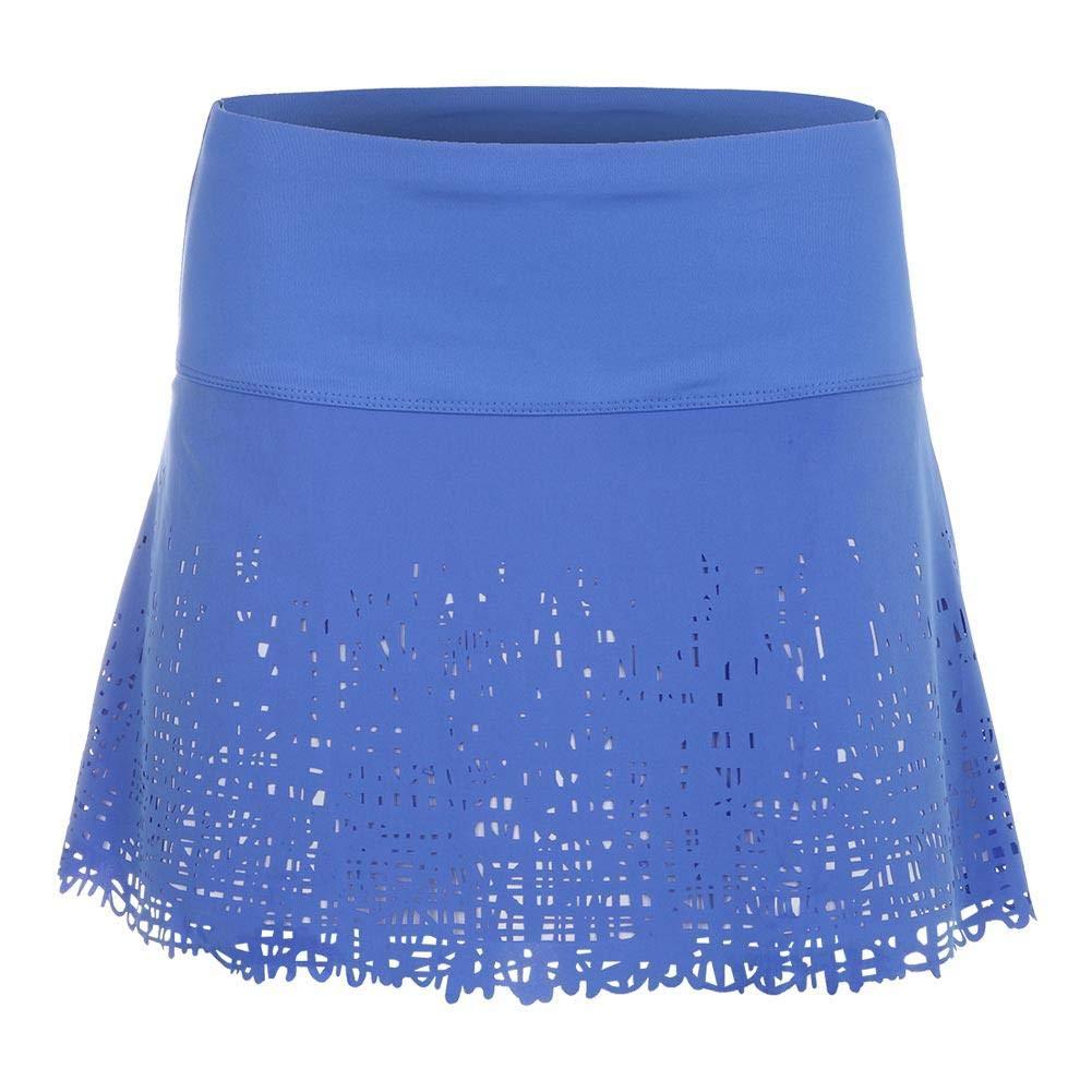 Lucky In Love Laser Scribble Long Skirt (Medium) Parisian Blue