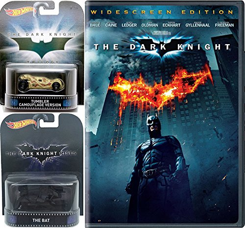 Batman The Dark Knight (Widescreen Edition) with Hot Wheels Retro Entertainment Tumbler Camouflage & The Bat iconic Movie Vehicles Die-Cast 1:64 - The Hot Blaze Cat