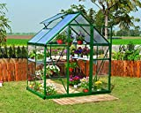 Palram HG5504G Hybrid Hobby Greenhouse, 6' x 4' x