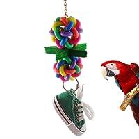 little finger Pequeño dedo colorido bola Sneaker Parrot Chew Star zapato jaula de pájaros escalada juguetes colgantes
