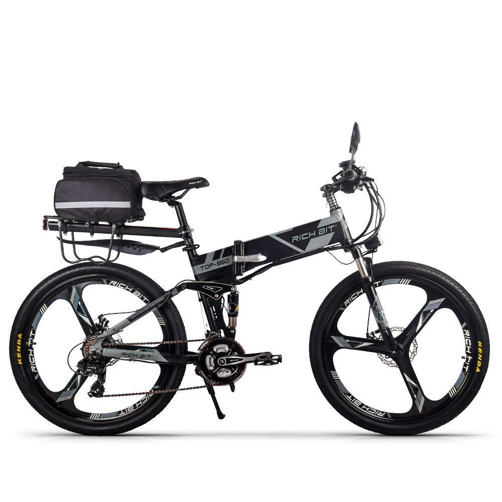 日本倉庫で在庫 マウンテンバイク 26インチ 電動アシスト自転車 折りたたみ自転車 36V*12.8AH シマノ21段変速 フルサスペンション スピード計付属 3色 B077ZTDBZ5