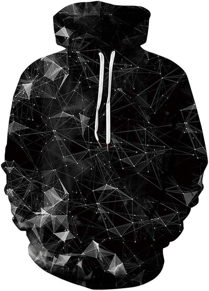 Mens Diamond Galaxy Graphic Unisex Stylish Hooded Sweatshirt