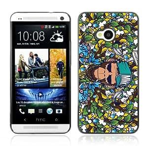 Lmf DIY phone case [Badass Graphiti Monkey Pattern] HTC One M7 CaseLmf DIY phone case