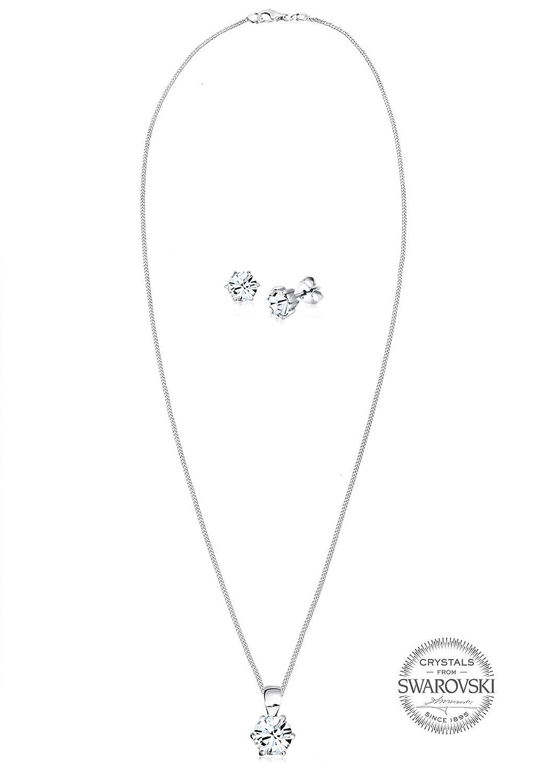 c352cf258266 Elli Classic - Juego de joyas de plata con cristal swarovski  Amazon.es   Joyería