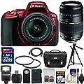 Nikon D5500 Wi-Fi Digital SLR Camera & 18-55mm G VR DX II with 70-300mm Lens + 32GB Card + Case + Battery + Flash + Tripod + Filters + Kit
