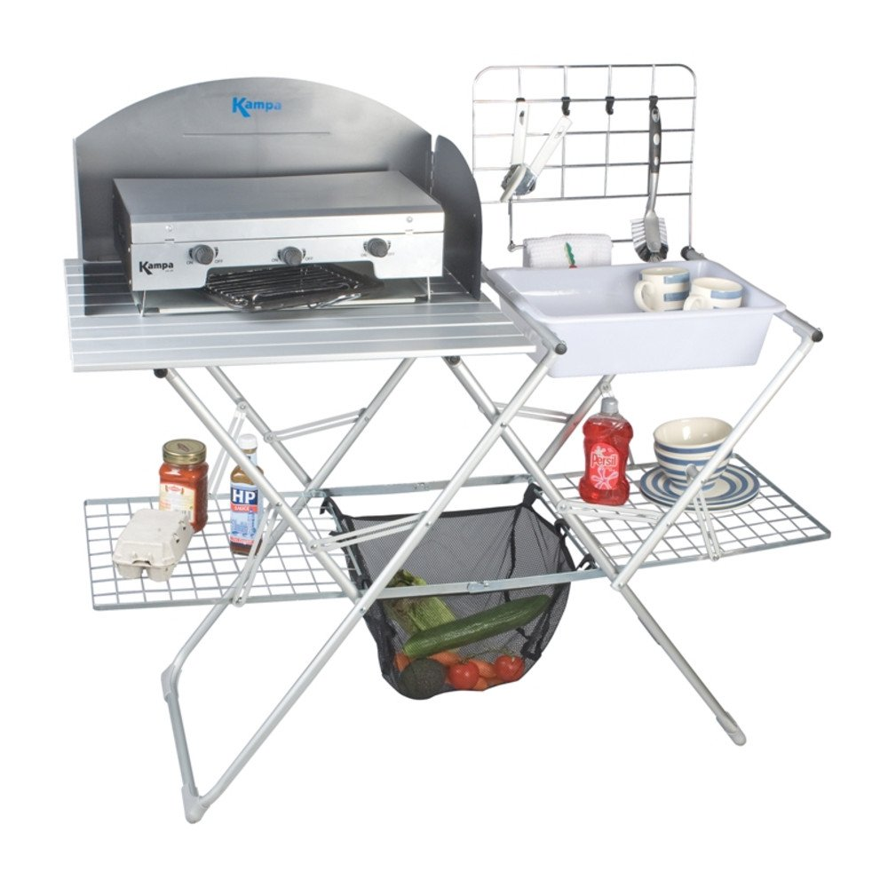Kampa - Commodore Camping Field Kitchen: Amazon.co.uk: Garden & Outdoors