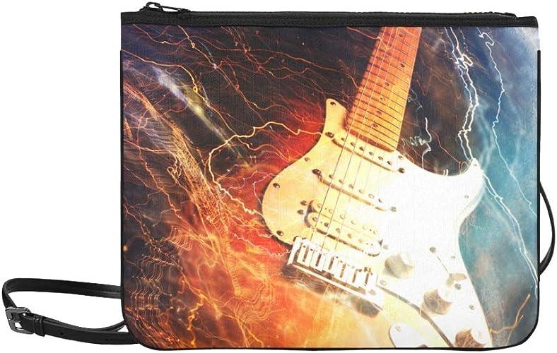 WYYWCY Guitarra eléctrica rodeada de un patrón de rayo Bolso de ...