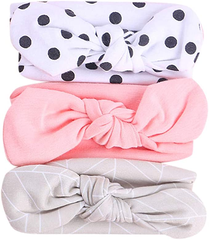 10pcs Children/'s Nylon Hairbands Bowknot Headwear Elastic Headbands L/&6