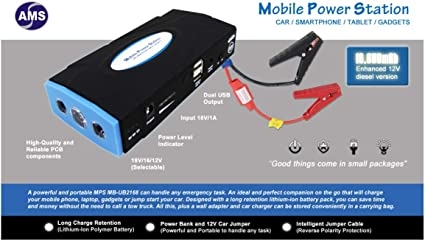 16800mAh 12VAuto Jump Starter Car Emergency Charger Booster Power Bank