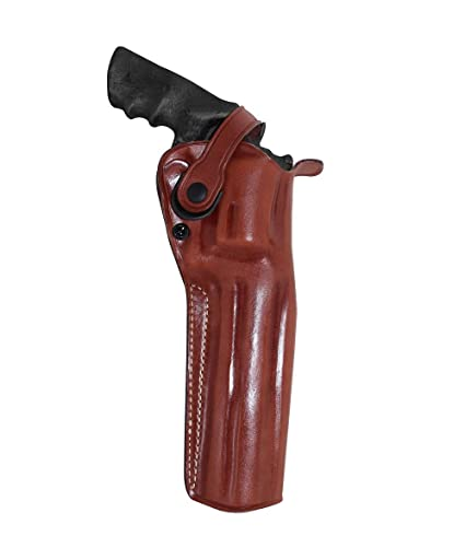 Premium Leather Three Slots Belt Holster with Retention Strap Fits Smith  Wesson Model 500 Magnum X-Frame 6 5