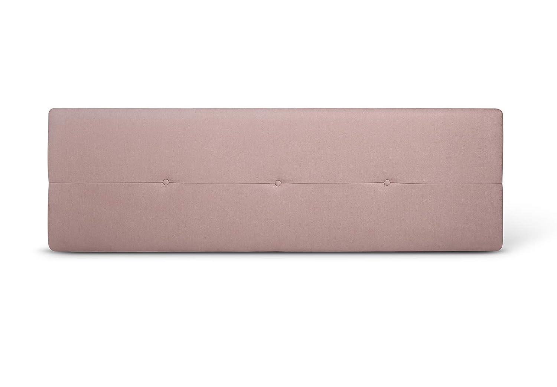 SUENOSZZZ - Cabecero de Madera Jazmin, tapizado Acolchado, en Tela Rio14 Color Salmon Cabeceros Madera para Dormitorio | Cama Matrimonio | Cama ...