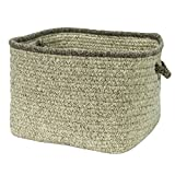 Colonial Mills Basket Square basket 4''x14''x10'' in Gray Color From Natural Style Square Basket Collection