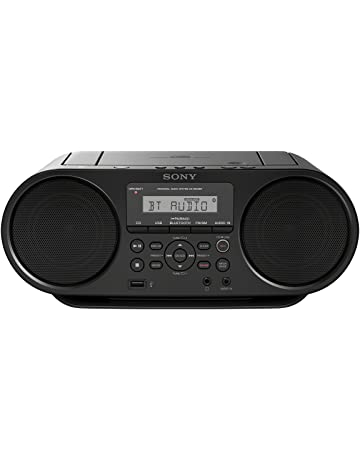 Sony ZS-RS60BT - Radio Boombox CD de 4W (estéreo, USB, Bluetooth