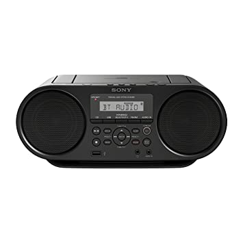 Sony ZS-RS60BT - Radio Boombox CD de 4W (estéreo, USB, Bluetooth, NFC) , negro: Amazon.es: Electrónica