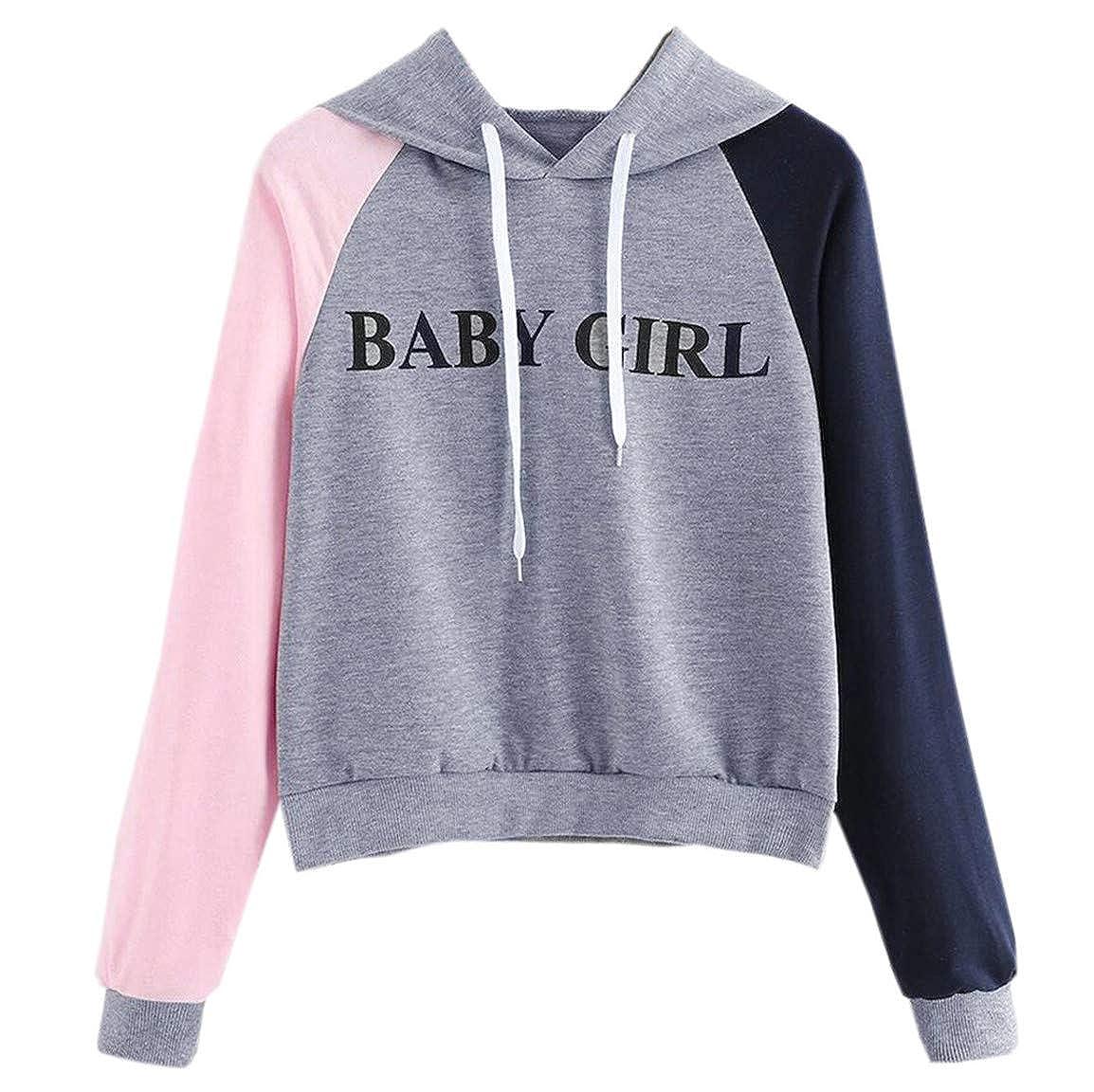 Frauen Langarm Pullover Damen Patchwork Sweatshirt Mode Brief Gedruckt Hoodie Kausal Billig Mit Kapuze Tops T Bluse Moonuy